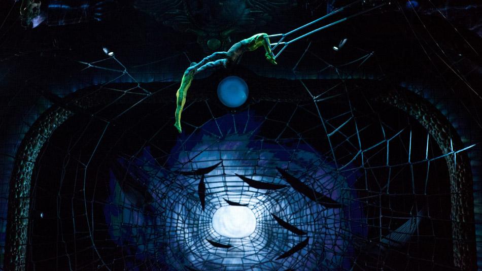 Trapeze in Spider Ladys' nest. (Photo: Cirque du Soleil)